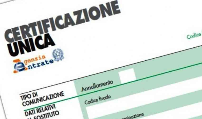 Certificazione Unica 2020: disponibile per il download